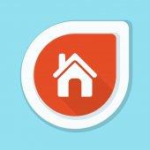 House navigation pin vector illustration