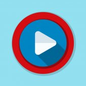 Play simple icon vector illustration