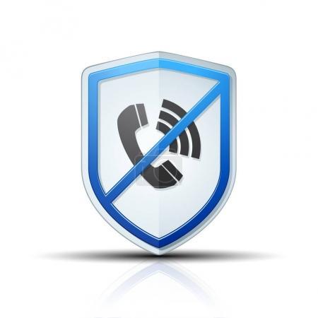 no calls shield icon