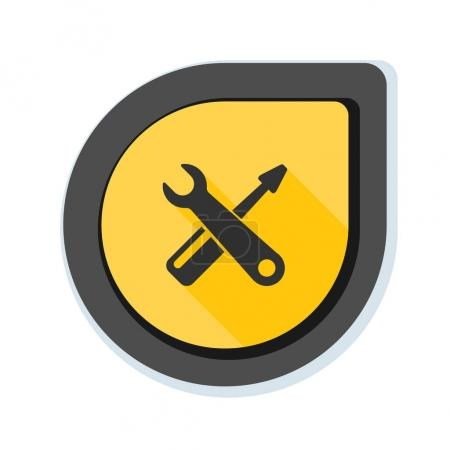 Wrench and screwdriver icon