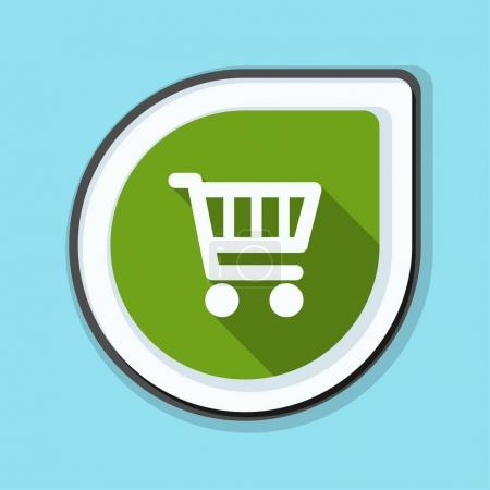 Illustration for Shopping cart icon sign, vector illustration - Royalty Free Image