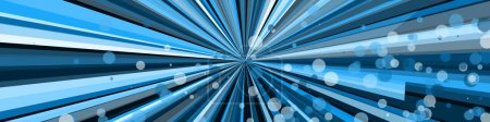 Foto de Abstract art blue lines and dots random distribution Computational Generative Art on black background. - Imagen libre de derechos