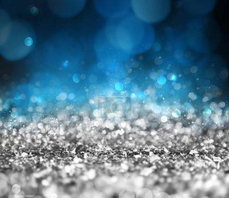 Foto de Decoración de fondo de Navidad con cristales plata brillantes - Imagen libre de derechos