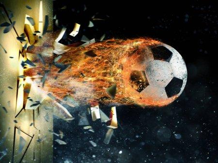 Professional soccer fireball