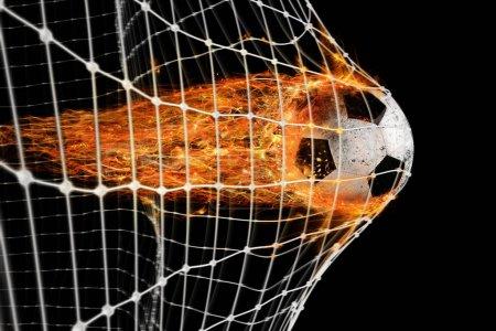 Professional soccer fireball leaves trails