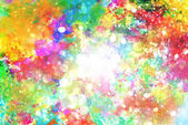 """Постер, картина, фотообои """"Взрыв блестящей цветной жидкости цветов"""""""