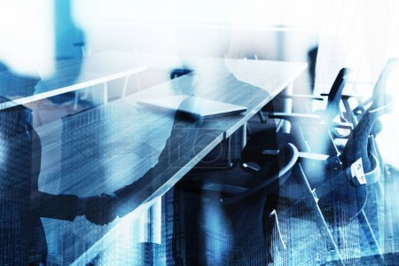 Abstract business handshake background