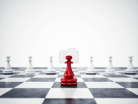 Red pawn differ from the mass.