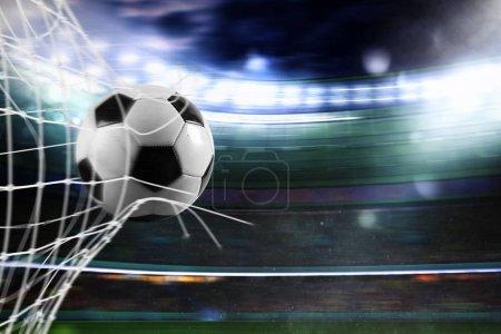 Ball scoring  a goal
