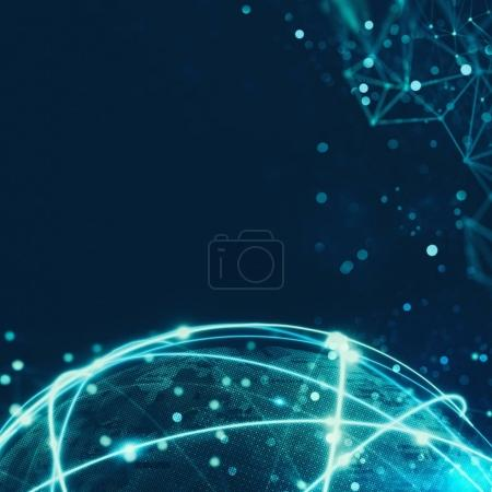 Photo for Concept of global internet connection network around the world - Royalty Free Image
