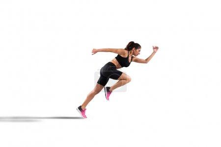 Athletic woman runner in sportswear