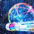 Concept of global fast internet infrastructure aro...