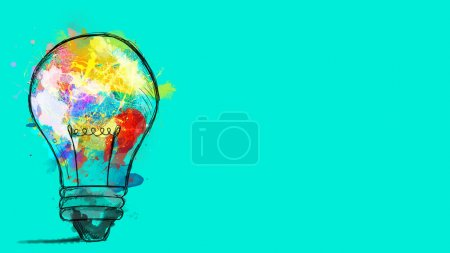 Photo for Banner concept of innovation, creativity and imagination - Royalty Free Image