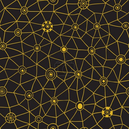Vector abstract triangles pattern, honeycomb grid handdrawn backdrop
