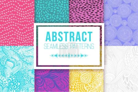 Abstract seamless patterns se vector textures