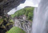 Waterfall view in Norway summer trip