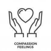Compassion feelings icon
