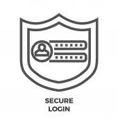 Secure Login Line Icon