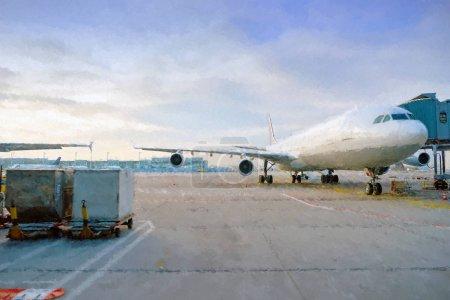 Aircraft on tarmac in Frankfurt Airport