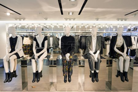female mannequins at store