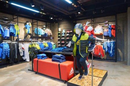 Adidas store in Hong Kong