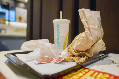 food tray at McDonalds restaurant