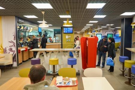 inside McDonalds restaurant
