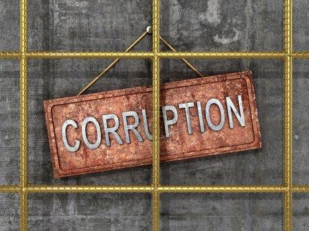 Photo pour La lutte contre la corruption. Le concept de lutte contre la corruption. Illustration 3D - image libre de droit