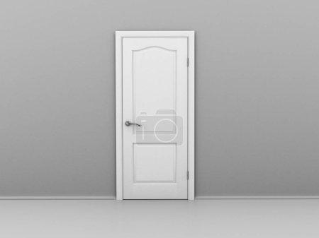 open door .3d illustration.