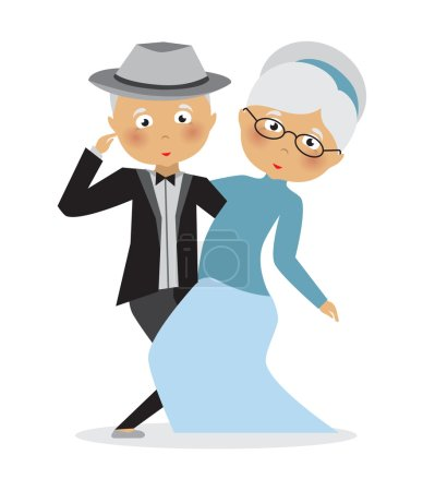 Seniors Dancing - Vector