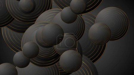 Foto de Los círculos de bronce negro son antecedentes corporativos abstractos - Imagen libre de derechos
