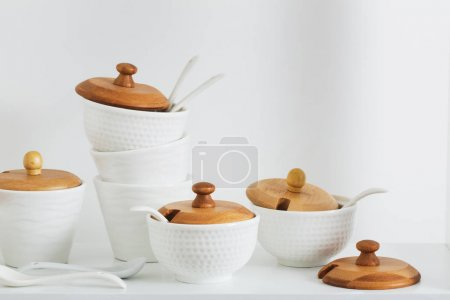 containers for spices on the shelf
