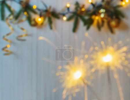 the blurred christmas background