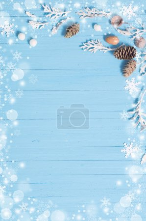Photo for Beautiful blue  Christmas background - Royalty Free Image
