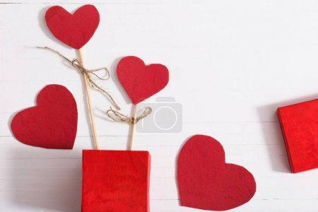 valentines background with red heart