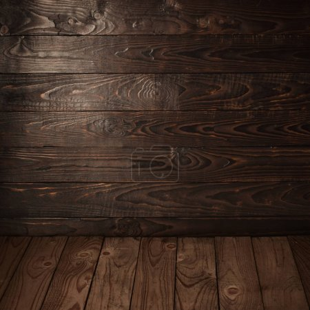 Photo for Old wooden striped vintage background - Royalty Free Image