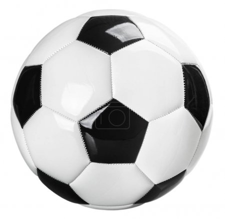 traditional black and white football isolated on