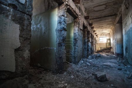 Interior of abandoned jailhouse