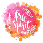 Boho Style Lettering quotes and hand drawn elements