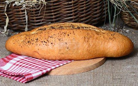 bread, wheaten long loaf