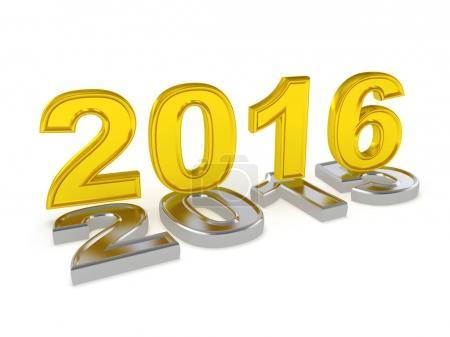 Photo pour Heureuse nouvelle année 2017. illustration 3D - image libre de droit