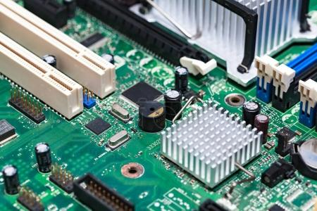 Photo for Closeup shot of modern motherboard or videocard - Royalty Free Image