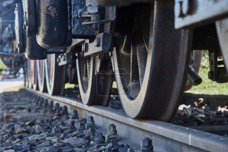 Détail de la locomotive à vapeur