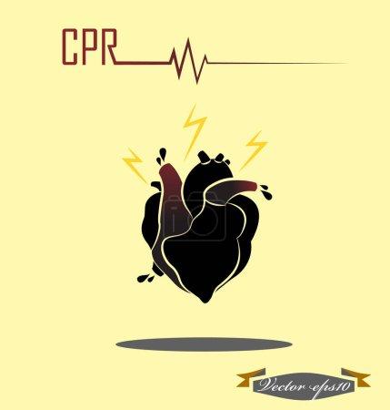 illustration design vector of CPR