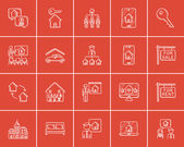 Real estate sketch icon set