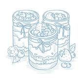 Assorted jams in glass jars