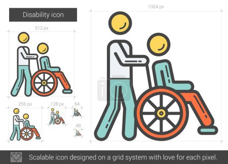 Disability line icon.