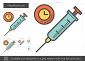 Anesthesia line icon