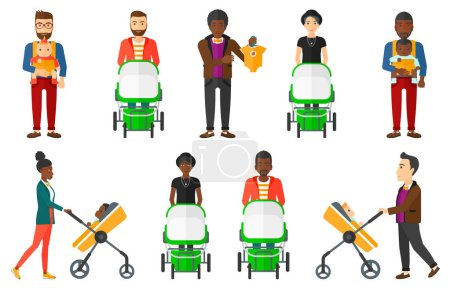Vector set of maternity and parenthood.