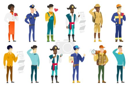 Vector set of professions characters.